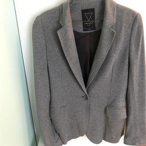 Aritzia Talula Pima Cotton Gray Blazer Jacket